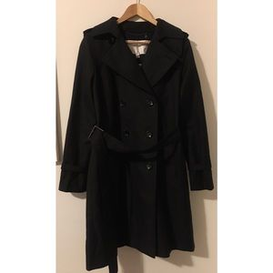 Coach Black Trench Coat M Classic Belted Walking